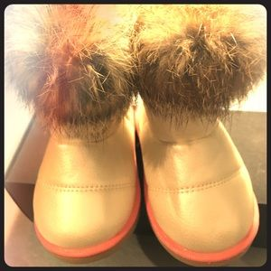 Other - Cute little baby boots with real fur.